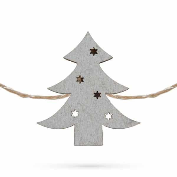 LED sponke za božično drevo v obliki smrekic - toplo bela LED - 2 x AA