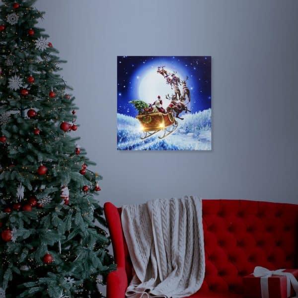 LED stenska slika - božiček - 2 x AA, 30 x 30 cm