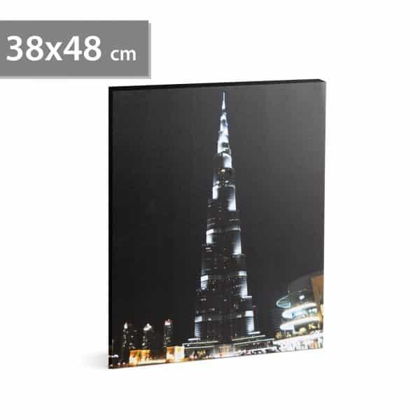 "LED stenska slika - ""Burj Khalifa"" - 2 x AA, 38 x 48 cm"