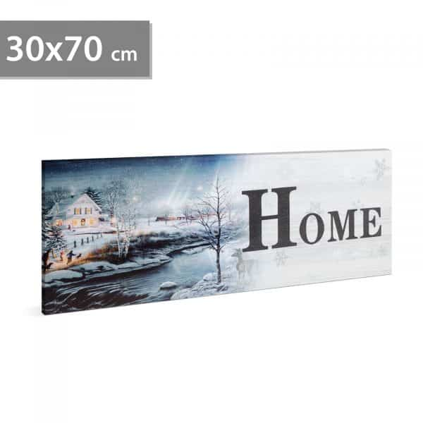 """LED stenska slika - """"Home"""" - 2 x AA, 30 x 70 cm"""
