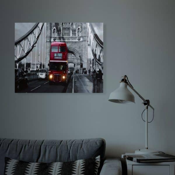 "LED stenska slika - ""London Bus"" - 2 x AA, 38 x 48 cm"