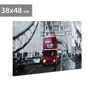 "LED stenska slika - ""London Bus"" - 2 x AA, 38 x 48 cm"