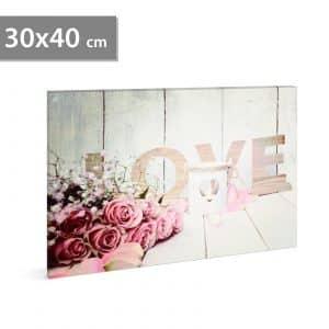 "LED stenska slika - ""love"" - 2 x AA, 30 x 40 cm"