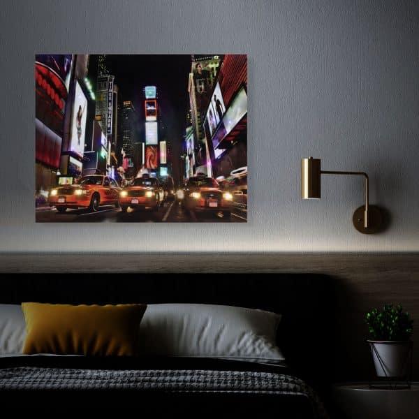 "LED stenska slika - ""Times Square"" - 2 x AA, 38 x 48 cm"