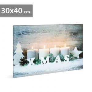"LED stenska slika - ""xmas"" - 2 x AA, 30 x 40 cm"