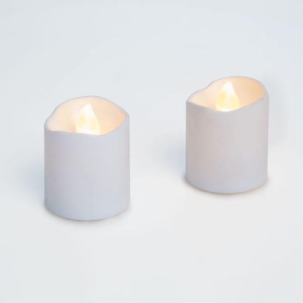 LED svečka, bela, 2 kos / blister