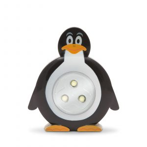 LED svetilka s potisnim stikalom - pingvin