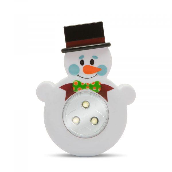 LED svetilka s potisnim stikalom - snežak