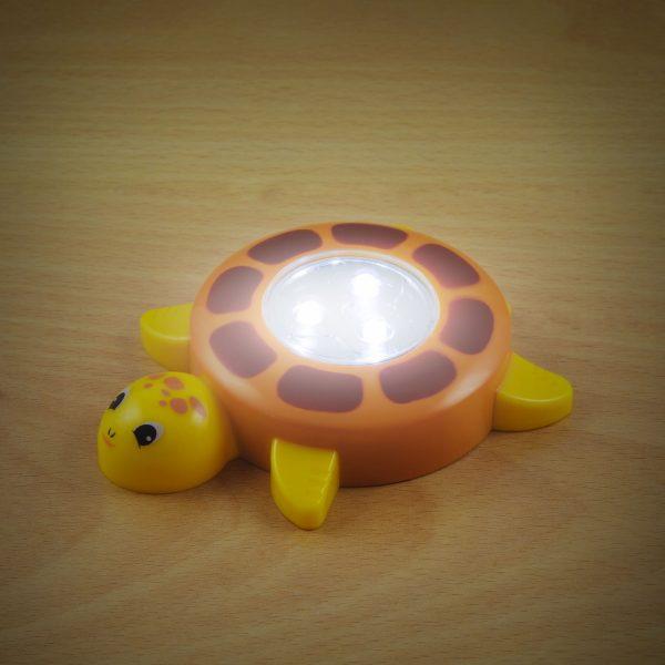 LED svetilka s potisnim stikalom - želva