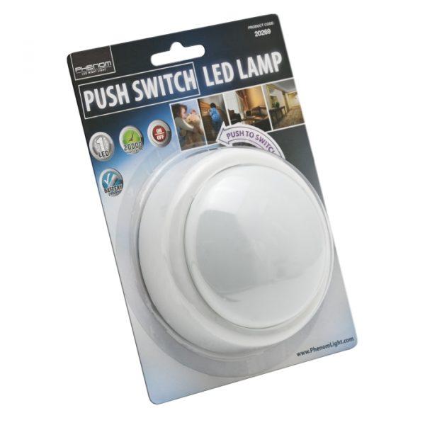 LED svetilka s stikalom na potisk