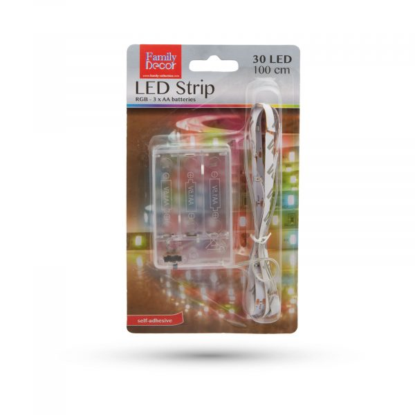 LED trak na baterije RGB 1m