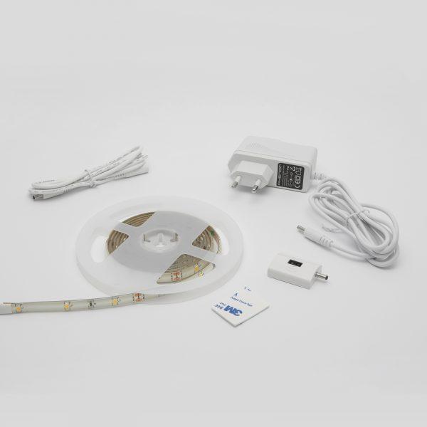 LED trak z IR senzorjem kraktega dosega z dimmerjem 2m 3000K