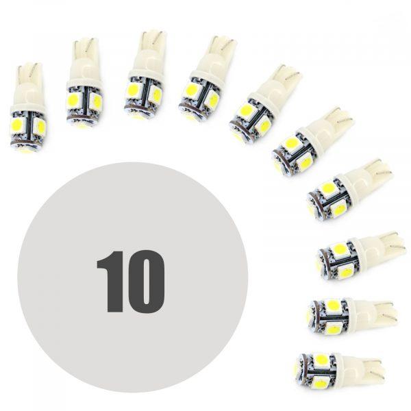 LED žarnica - sijalka - 1,25W • T10 • 90 lumnov - 10 kosov / paket