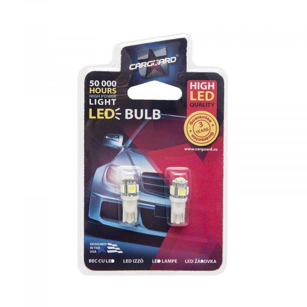 LED žarnica - sijalka - 1,25W • T10 • 90 lumnov - 2 kosa / blister