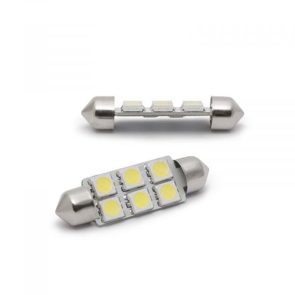LED žarnica - sijalka - 1,5 W • Sofit 39 mm - 108 lumnov, 2 kosa / blister