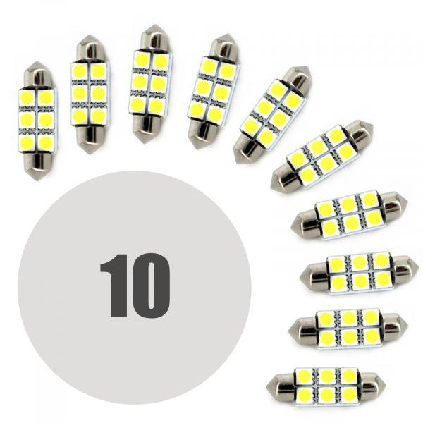 LED žarnica - sijalka - 1,5 W • Sofit 41 mm - 108 lumnov, 10 kosov / paket