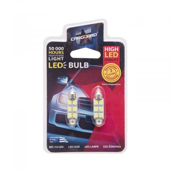LED žarnica - sijalka - 1,5 W • Sofit 41 mm - 108 lumnov, 2 kosa / blister