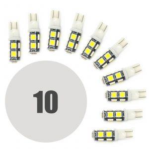 LED žarnica - sijalka - 2,25W • T10 • 162 lumnov - 10 kosov / paket