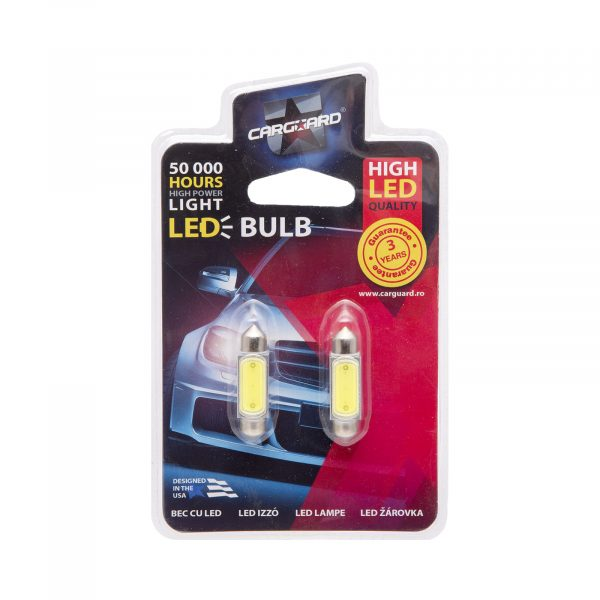 LED žarnica - sijalka - 3W • Sofit 36 mm - 150 lumnov, 2 kosa / blister