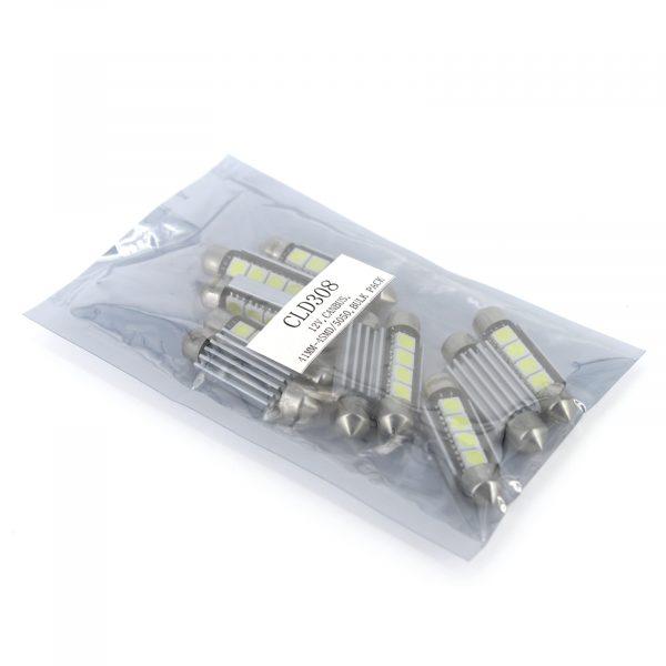 LED žarnica - sijalka Canbus - 3W • Sofit 41 mm - 72 lumnov, 10 kosov / paket