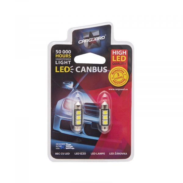LED žarnica - sijalka Canbus - 3W • Sofit 46mm - 54 lumnov, 2 kos / blister