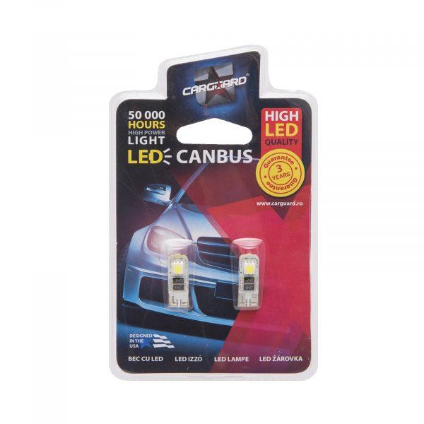 LED žarnica - sijalka Canbus - 3W • T10 • 36 lumnov, 2 kos / blister