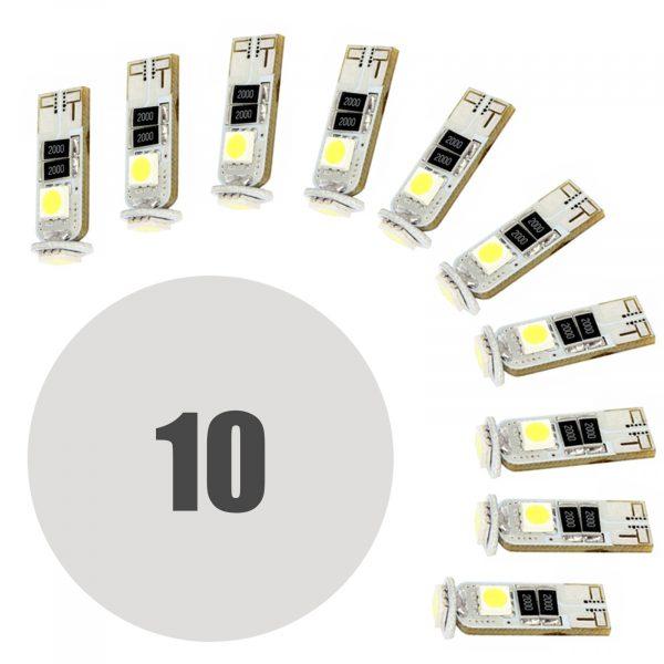 LED žarnica - sijalka Canbus - 3W • T10 • 54 lumnov - 10 kosov / paket