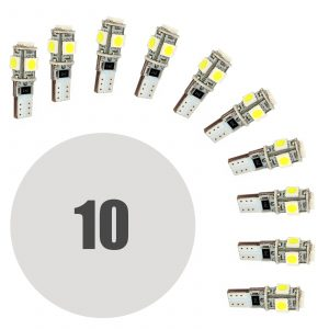 LED žarnica - sijalka Canbus - 3W • T10 • 90 lumnov - 10 kosov / paket