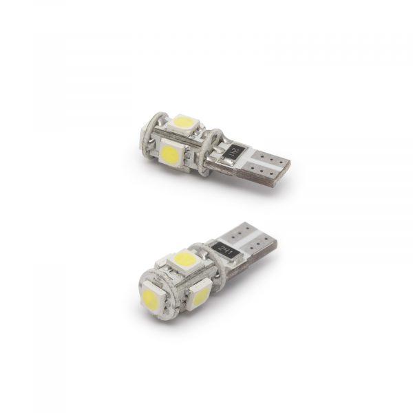 LED žarnica - sijalka Canbus - 3W • T10 • 90 lumnov - 2 kos / blister