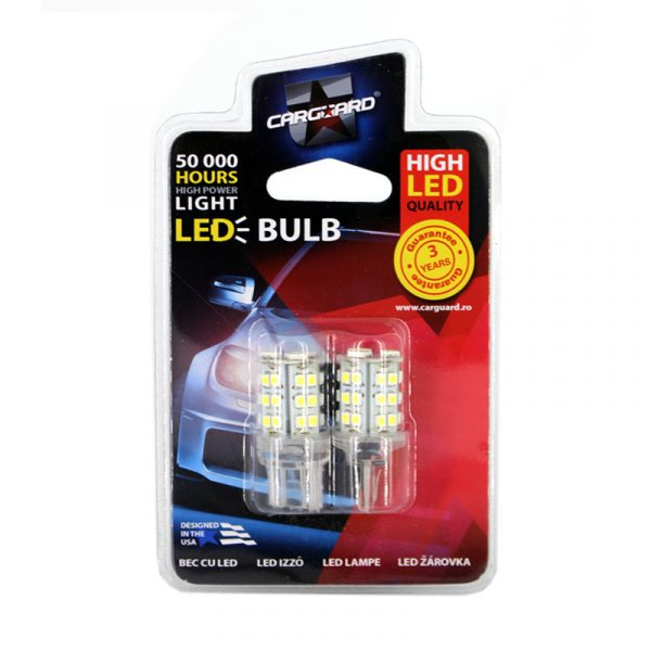 LED žarnica - sijalka - T20 / W21 - 5W - 414 lumnov - 33 SMD LED, 2 kos / blister