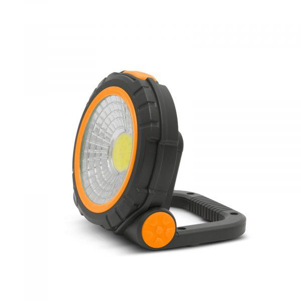 Magnetna baterijska COB LED delovna svetilka 3W + rdeča signalna lučka