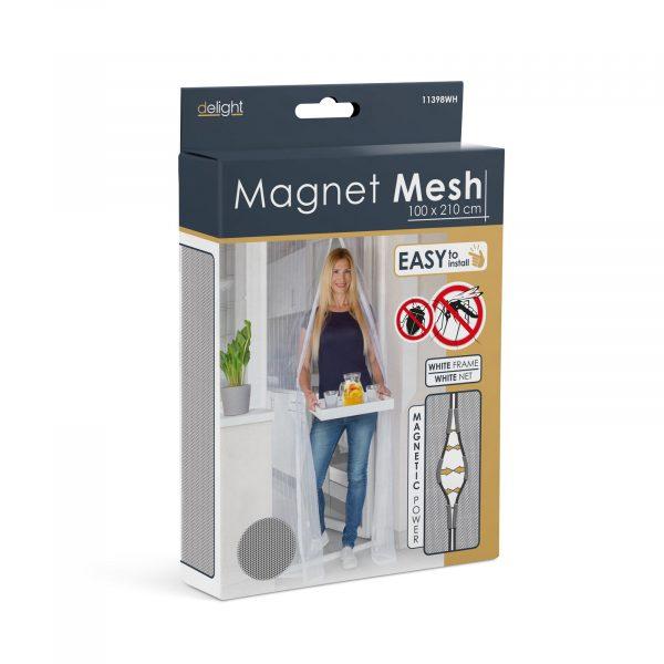 Magnetna zavesa proti komarjem za vrata 100 x 210 cm - bela