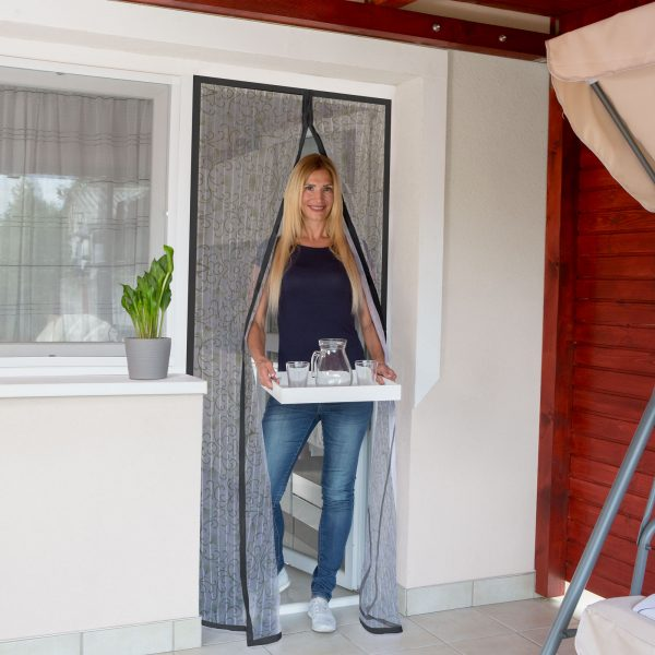 Magnetna zavesa proti komarjem za vrata 100 x 210 cm - cvet