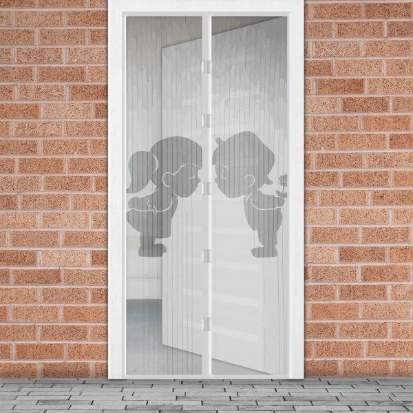 Magnetna zavesa proti komarjem za vrata 100 x 210 cm - fant + punca