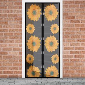 Magnetna zavesa proti komarjem za vrata 100 x 210 cm - sončnice