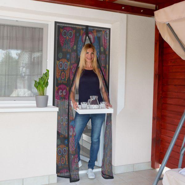Magnetna zavesa proti komarjem za vrata 100 x 210 cm - sovice