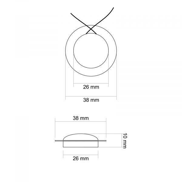 Membrana za zvočnik 33509 Dome