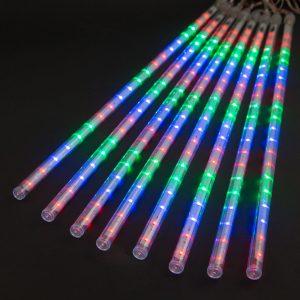 Meteor ledense sveče, velike 50 cm, večbarvne LED, 8 kos