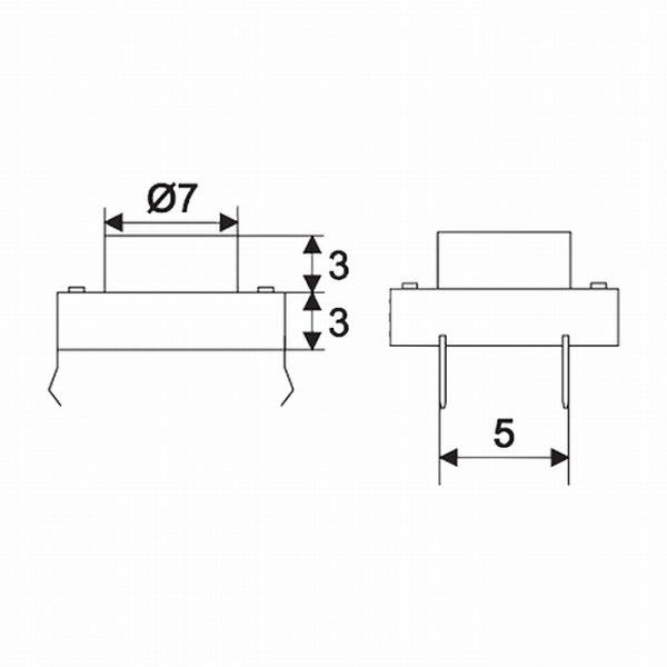Mikro stikalo - 1 vezje - 0,05 A - 12 V DC - OFF - (ON)