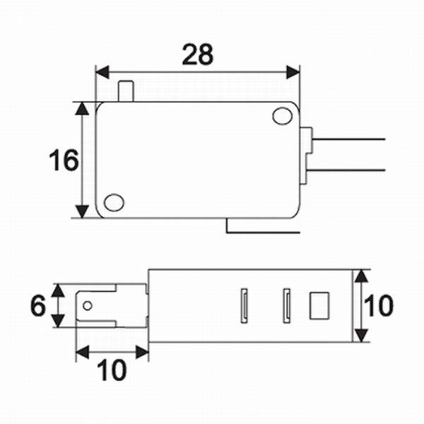 Mikro stikalo - 1 vezje - 16 (4)A - 250V - ON - (ON)