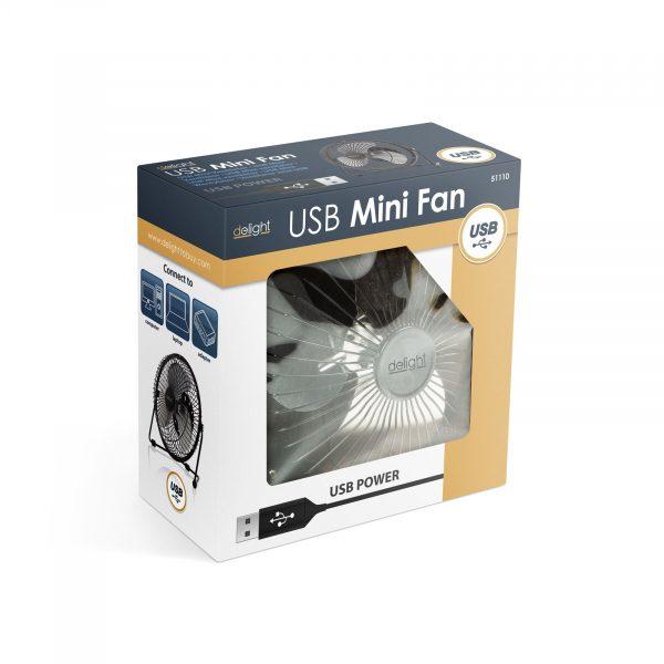 Mini USB ventilator črn