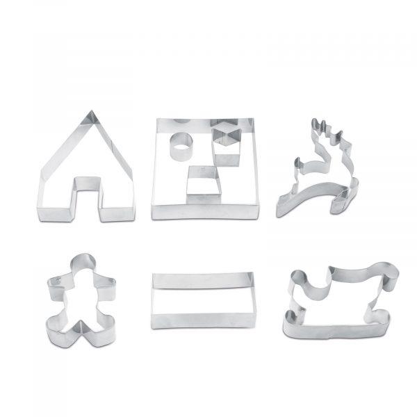 Modelčki za izdelavo 3D hišice iz medenjakov - 9 kosov
