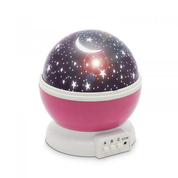 Moon&Star otroška projektorska svetilka pink