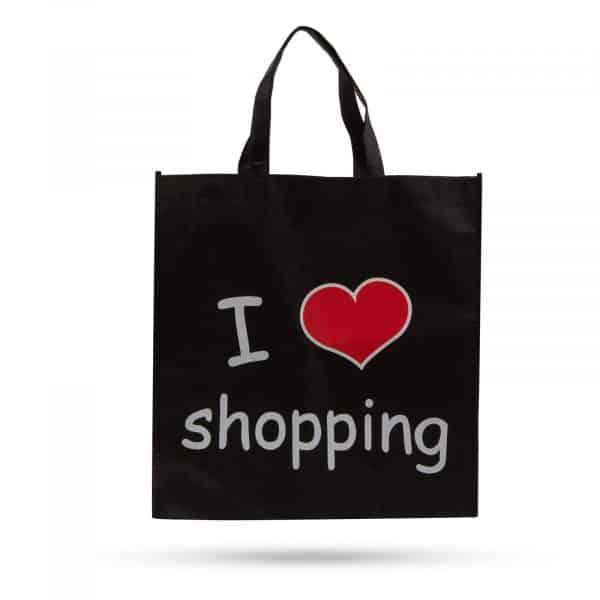 """Nakupovalna torba """"Obožujem nakupovanje"""" - 40 x 40 cm"""