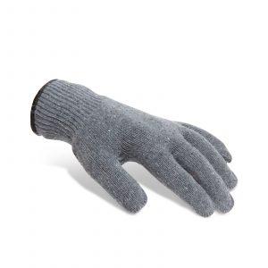 Nedrseče bombažne rokavice s pvc pikami - L, 12 kosov / paket