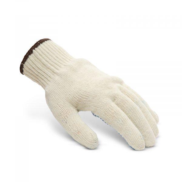Nedrseče bombažne rokavice s pvc pikami - XL