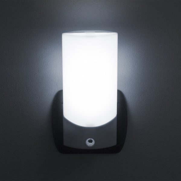 Nočna lučka Phenom LED s senzorjem svetlobe - bela