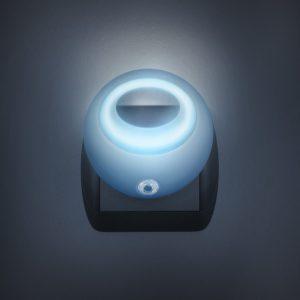 Nočna lučka Phenom LED s senzorjem svetlobe - modra