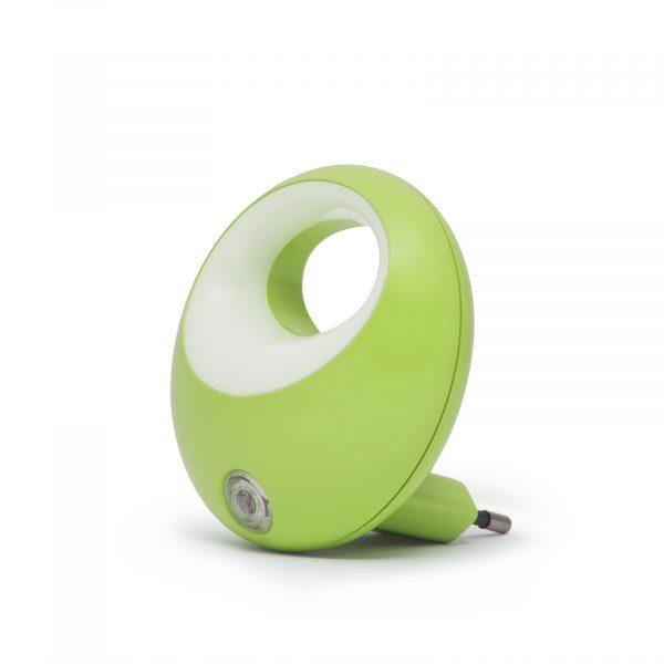 Nočna lučka Phenom LED s senzorjem svetlobe - zelena
