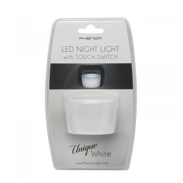 Nočna lučka Phenom LED s stikalom na dotik - bela